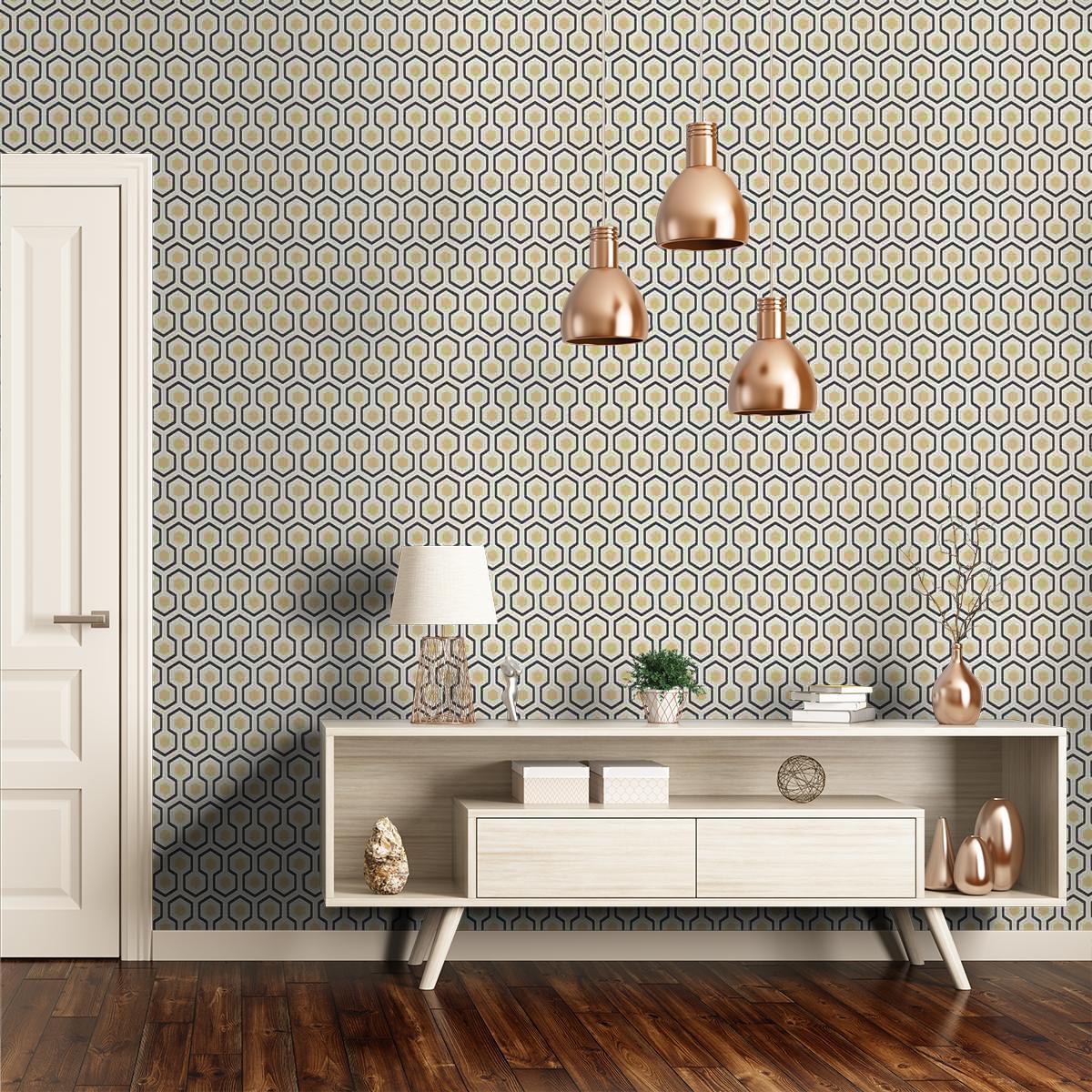 Papier Peint David Hicks cole and son - hicks' hexagon wallpaper | spirithome